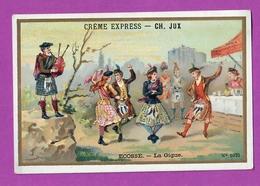 Chromo Image Créme Express -  CH JUX - N° 1075 Ecosse - La Gique ( Danse ) - Trade Cards