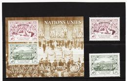 SRO437 UNO GENF 1995 MICHL 269/70 + BLOCK 7 ** Postfrisch Siehe ABBILBUNG - Genf - Büro Der Vereinten Nationen