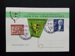 BERLIN MI-NR. 124-125 O AUF SONDERKARTE JAGD- UND SPORTFISCHEREI AUSSTELLUNG DÜSSELDORF 1954 RICHARD STRAUSS KOMPONIST - [5] Berlino