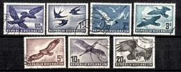 Autriche Poste Aérienne YT N° 54/60 Oblitérés. B/ TB. A Saisir! - Airmail