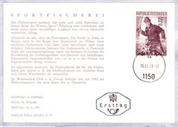 1971 Sport - Angeln Fischerei FDC Karte (ANK 1407, Mi 1377) - FDC