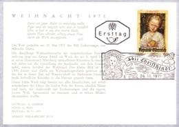 1971 Weihn. 1971: Jesusknabe FDC 4411 Karte  (ANK 1409, Mi 1379) - FDC