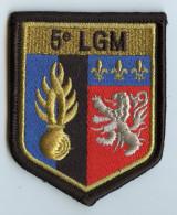ECUSSON TISSU DE BRAS - 5e LEGION GENDARMERIE MOBILE -  DOS SCRATCH - SACHET NON OUVERT 65 - Police & Gendarmerie