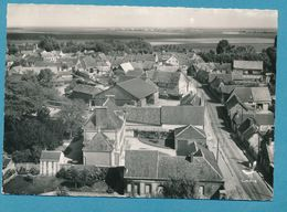 TREMBLAY LE VICOMTE - En Avion Au-dessus De La Grande Rue. Photo Véritable Circulé 1959 - Autres Communes