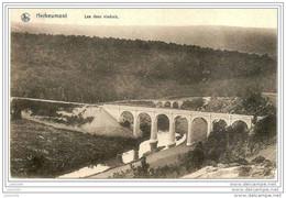 HERBEUMONT ..-- Nels  40 , N° 8 . Les Deux Viaducs . Vers SOUVRET ( Famille GERONNEZ ) . Voir Verso . - Herbeumont