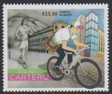 MEXICO, 2018, MNH, DAY OF THE POSTMAN, BICYCLES, INDIANS,  1v - Cycling