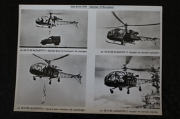 Hélicoptères.Le SE-3130 Alouette II ,transport-sanitaire-sauvetage-marine - Sud Aviation,photo Sur Papier Glacé.24x18 Cm - Helicopters