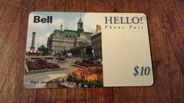 TÉLÉCARTE CANADA BELL HELLO 10$ - Canada