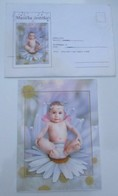 Play Music,Music Card-Two Part Telegram Card With Enelope-Serbia - Baby On The Flower - Serbia