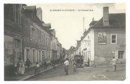 SAINT-AMAND-en-PUISAYE (58, Nièvre)  La Grande Rue - Belle Animation - Hôtel De Ville, Commerces - Saint-Amand-en-Puisaye