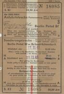 Billet Chemin De Fer 1943. .Berlin Bruxelles Schaerbeck. Militaria. Rare - Railway