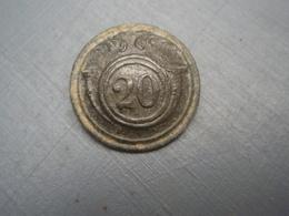Bouton Infanterie Légère 1844-1854 N°20 Avec Cor. - Boutons