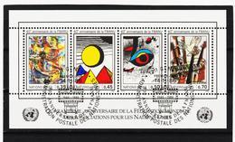 SRO413 UNO GENF 1986 MICHL BLOCK 4 Gestempelt Siehe ABBILBUNG - Genf - Büro Der Vereinten Nationen