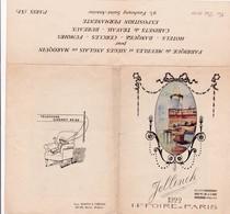 75-Jellinek.. Fabrique De Meubles & Sièges Anglais En Maroquin   Paris XI ème .. 1922 - Petits Métiers