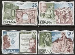 1980-ED. 2583 A A D ( 2579 A 2582 ) CORTADOS DE H.B.-ESPAMER80- NUEVO - 1931-Today: 2nd Rep - ... Juan Carlos I