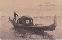 AK Venezia - Gondola In Bacino Di S. Marco - 1913 (40852) - Venetië (Venice)