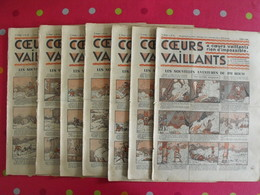 7 Coeurs Vaillants 1935. Hergé Tintin En Orient (cigares Du Pharaon) Jim Boum Marijac - Otras Revistas