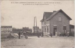 CARTE POSTALE   DANNES-CAMIERS 62  La Buvette De La Gare - France