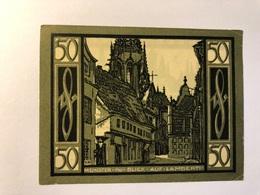 Allemagne Notgeld Munster 50 Pfennig - [ 3] 1918-1933 : República De Weimar