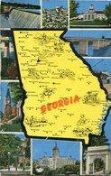GEORGIA - MAP. U.S.A. POSTAL CPA CIRCA 1940 NON CIRCULÉ - LILHU - Estados Unidos