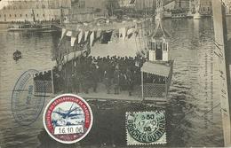 Marseille Le Pont A Transbordeur La Nacelle Suspendue Au Dessus De L Eau Tampon 16 Octobre 1906 - Joliette, Hafenzone