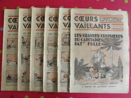 6 Coeurs Vaillants Avril-juin 1935.  Hergé Tintin En Orient (cigares Du Pharaon) Jim Boum Marijac Pat'fol - Otras Revistas