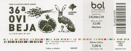 PORTUGAL - Ticket On The 36th OVIBEJA - Agriculture And Rural World - Alentejo - Autres Collections