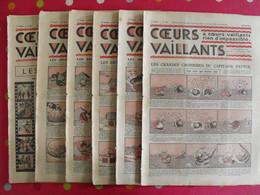 6 Coeurs Vaillants Juin-juillet 1935.  Hergé Tintin En Orient (cigares Du Pharaon) Jim Boum Marijac Pat'fol - Otras Revistas