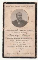 Souvenir Décès Dominique LEMAIRE Conseiller Municipal D'Aire-sur-la-Lys Décédé à Saint-Quentin-les-Aire 1921 - Images Religieuses