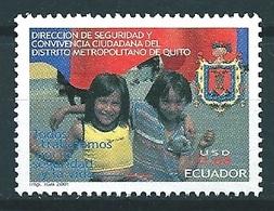 Ecuador (2001) Yv. 1612  /  Polizei - Police - Policia - Security - Children - Police - Gendarmerie