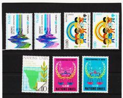 SRO402 UNO GENF 1979 JAHRGANG MICHL 81/87 ** Postfrisch Siehe ABBILBUNG - Genf - Büro Der Vereinten Nationen
