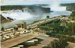 GENERAL VIEW OF NIAGARA FALLS. CANADA. POSTAL CPA CIRCULÉ 1960 TO ARGENTINA - LILHU - Cataratas Del Niágara