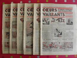 8 Coeurs Vaillants Juillet-septembre 1935.  Hergé Tintin En Orient (cigares Du Pharaon) Jim Boum Marijac Pat'fol - Otras Revistas