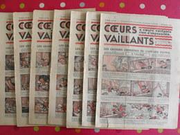 7 Coeurs Vaillants Septembre-octobre 1935.  Hergé Tintin En Orient (cigares Du Pharaon) Jim Boum Marijac Pat'fol - Otras Revistas