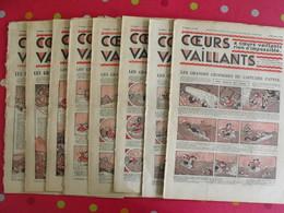 8 Coeurs Vaillants Novembre-décembre 1935.  Hergé Tintin En Orient (cigares Du Pharaon) Jim Boum Marijac Pat'fol - Otras Revistas