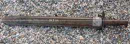 """MILITAIRE ARMÉE - Baionette US N° 204446 """" LONGUE """"  SA 1907 - WW1 - En L'état - GRAND M1 - à Identifier Si Erreur - Armes Blanches"""