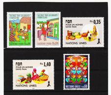 SRO416 UNO GENF 1987/88  MICHL 160/64 ** Postfrisch Siehe ABBILBUNG - Genf - Büro Der Vereinten Nationen