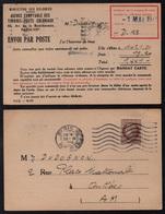 FRANCE - MINISTERE DES COLONIES / 1946 CARTE COMMERCIALE POUR ANTIBES  (ref LE3436) - France
