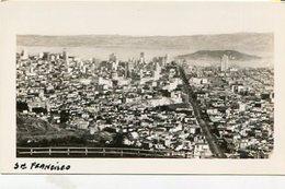 MAIN BUSINESS SECTION OF SAN FRANCISCO, FROM TWIN PEAKS. U.S.A. PHOTO POSTAL CPA CIRCA 1930's NON CIRCULÉ - LILHU - San Francisco