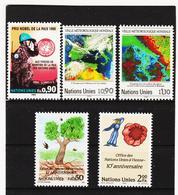 SRO419 UNO GENF 1989  MICHL 175/79 ** Postfrisch Siehe ABBILBUNG - Genf - Büro Der Vereinten Nationen