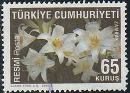 Turquie 2009 Service Yv. N°271 - Lys Blanc - Oblitéré - Sellos De Servicio
