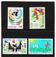 SRO423 UNO GENF 1991  MICHL 200/03 ** Postfrisch Siehe ABBILBUNG - Genf - Büro Der Vereinten Nationen
