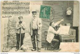 PARTITION PAROLES ET MUSIQUES. La Muse Le Travail En Sabot 1911 - Musique Et Musiciens