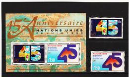 SRO424 UNO GENF 1990  MICHL 188/89 + BLOCK 6 ** Postfrisch Siehe ABBILBUNG - Genf - Büro Der Vereinten Nationen