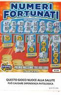 GRATTA E VINCI   - NUMERI FORTUNATI DA €5.00 - USATO N° 32 VV -  (QUESTO GIOCO NUOCE ALLA SALUTE) - Biglietti Della Lotteria