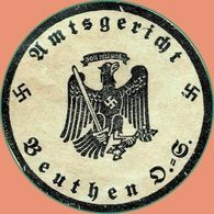 Nazi Germany Part Of Stationery With Free Postage Seal & Postal Receipt 1937 DR Ganzsache Frei Durch Ablösung Reich - Lettres & Documents