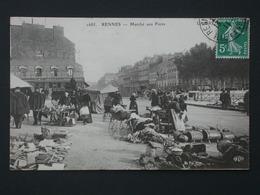 Ref5775 CPA Animée De Rennes (Ille Et Vilaine) Marché Aux Puces ELD N°1685 - 1911 - Devanture De Café - Rennes