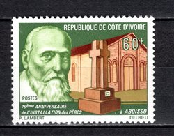 COTE D'IVOIRE   N° 536  NEUF SANS CHARNIERE COTE  1.20€  INSTALLATION DES PERES MONUMENT - Ivory Coast (1960-...)