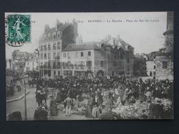 Ref5776 CPA Animée De Rennes (Ille Et Vilaine) Marché Aux Puces 1911 - Rennes