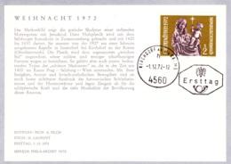 1972   Weihn. 1972: Muttergottes 4560 FDC Karte (ANK 1434, Mi 1405) - FDC
